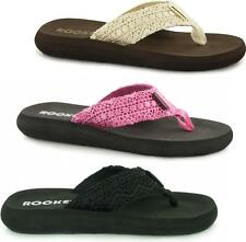 a723c320245 Rocket Dog SPOTLIGHT Ladies Womens Crochet Summer Beach Thong Sandals Flip  Flops