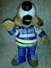 """Aaron's LUCKY DOG NASCAR 10 """" WALTRIP Plush Mascot with tag"""