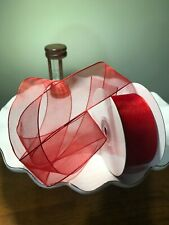 """Df Sheer Organza Ribbon- Wired Edge, 1-1/2"""" by 25Y Spool+ 2 free Gifts"""