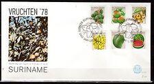 Suriname - 1978 Fruit - Mi. 838-43 clean FDC