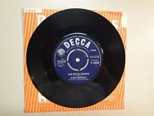 """STEVE MARRIOTT: (Of Humble Pie-Small Faces)Give Her My Regards-U.K. 7"""" 63 Decca"""