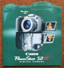 Canon PowerShot S2 IS Digital Camera - Prospekt englisch