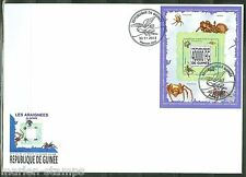 GUINEA 2013 SPIDERS OF THE WORLD  SOUVENIR SHEET FIRST DAY COVER