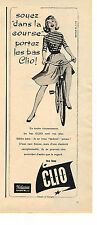 PUBLICITE ADVERTISING  1958   CLIO  bas & collants