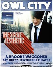 OWL CITY / THE SCENE ASTHETIC 2009 PORTLAND CONCERT POSTER - ELECTROPOP MUSIC