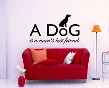 Wall Sticker Vinyl Decal Dog Animal Friendship Excellent Decor for Room (ig1146)