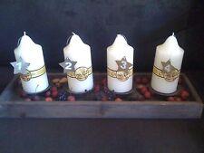 Kerzenleuchterschale Fichte braun Gewischt L 53 Cm Kerzenständer für 4 Kerzen