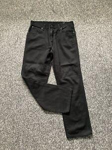 Mens Wrangler Black Jeans W34 L30 Regular Fit