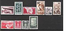 SARRE - 10 timbres de 1947-1954