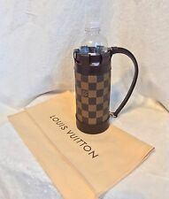 "LOUIS VUITTON Brown Ebene Damier Bottle Holder Carrier ""LV GOLF CUP 2001 JAPAN"""