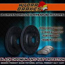 FITS 2003 JEEP WRANGLER YJ Drilled Brake Rotors CERAMIC BLK F