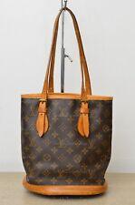 Louis Vuitton LV Petit Bucket PM #1 Shoulder Bag Used Authentic