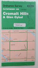 1990 OS Ordnance Survey Pathfinder map 103 Cromalt Hills & Glen Oykel NC 20/30