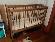 Wooden Babyco cot with mattress