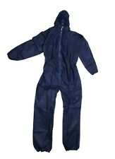 Disposable Coveralls Overalls Boilersuit Hood Painters Protective Suit (Blue)