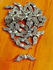 Tibetan Silver Angel Wings x 25
