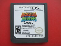 Monsters vs Aliens Nintendo DS Lite DSi 2DS 3DS XL Kids Game *Cleaned & Tested*