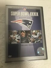 NEW ENGLAND PATRIOTS SUPER BOWL XXXIX CHAMPIONS DVD NFL SPECIAL EDITION 2005