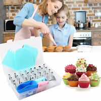 32x Russian Icing Piping Nozzles Set Pastry Tips DIY Cake Decorating Baking Tool