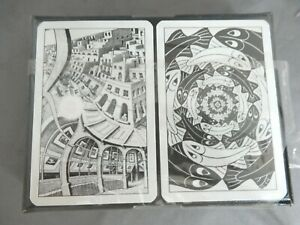 Lovely Twin Pack of Piatnik Playing Cards - Images by Dutch Artist M.C. Escher