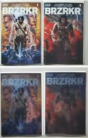 Brzrkr 1 Set Of 4 Keanu Reeves A B & Both Foil Variant Covers / Variant Cover NM