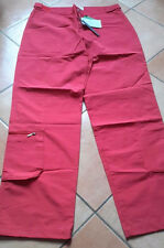 Pantalone uomo Dubin,  in tessuto tecnico ,tg 52, colore rosso, stile nautica