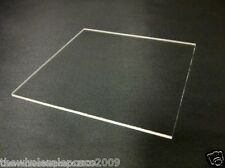 PACK OF 2 CLEAR PLASTIC SHEETS PERSPEX ACRYLIC A4 4MM SMALL WINDOWS