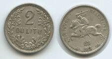 G9923 - Lithuania 2 Litu 1925 KM#77 Silver Scarce Latvia Litauen