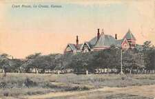 La Crosse Kansas Court House Scenic View Antique Postcard K57587