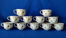 """Villeroy & Boch- Luxembourg☆Petite Fleur 2-3/8"""" Teacups Excellent☆11-Piece Set☆"""