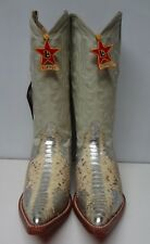 New Men'S Real Python Snake Skin Genuine Leather Cowboy Boots Rodeo Western C129