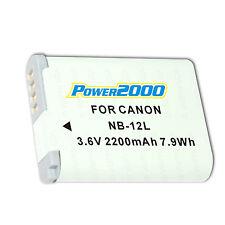 Power2000 Battery NB-12L for Canon PowerShot G1 X Mark II MK2 N100 VIXIA mini X