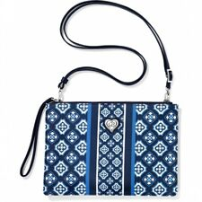 NWT Brighton MESSINA Blue White Convertible Pouch Purse MSRP $115