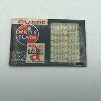1936 Atlantic White Flash Gas + Oil Advertising Pocket Calendar Vtg Antique  W6