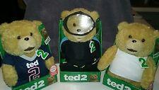 Ted 2 - Talking Bear 11inch,  Plush.  Explicit Language.  Set of 3