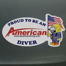 Proud To Be An American Diver - Patriot Die Cut Sticker American Diving Supply