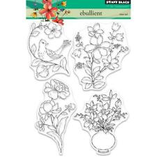 New Penny Black RUBBER STAMP clear EBULLIENT BIRD FLOWERS set free USA ship