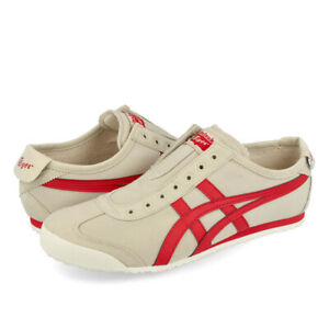 【DHL】Onitsuka Tiger MEXICO 66 SLIP-ON 1183A360 Beige × Red asics from Japan