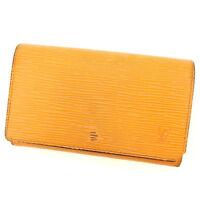 Louis Vuitton Wallet Purse Epi Orange Woman unisex Authentic Used T2219