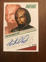 Star Trek Next Generation Michael Dorn as Lt Worf Autograph Card  Rittenhouse