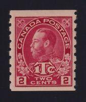 Canada Sc #MR6ii (1916) 2c rose carmine Admiral War Tax Coil Mint NH