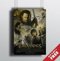 LORD OF THE RINGS Poster A3 / A4 LOTR Return of The King Movie Art Print Decor