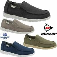Dunlop Mens Memory Foam Casual Comfy Canvas Slip On Lightweight Outdoor Shoes