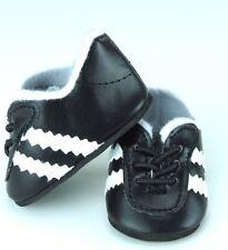 "Black White Soccer or Sports Shoes Fits American Girl Dolls - Boy Doll Logan 18"""
