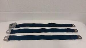 1969-70 Deluxe Hamill Seat Belts Blue w/bolts (1 Full lap/1 male) OEM