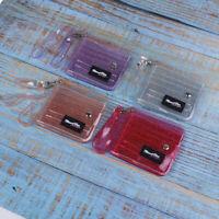 Bling Transparent ID Card Wallet PVC Folding Lanyard Glitter Business Card Purse