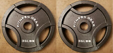Pair 35 lb Fitness Gear Olympic grip weight plates gym 70lbs total NEW