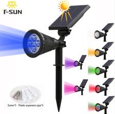 Solar Power Spotlight LED Garden Spot Lights Outdoor Lawn Landscape Wall Lamps