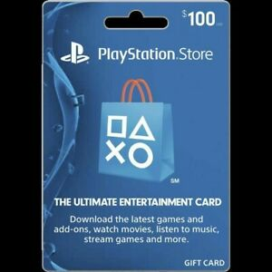 PSN Card 100$ (USD) PlayStation Network USA