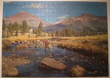Vintage 1965 MB Croxley 500 pc.puzzle #4611-11 ''Mountain Stream'' - COMPLETE